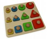 Shape, Size and Colour Learning Peg Board